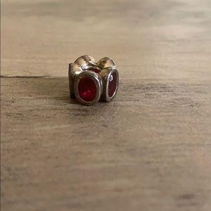 Dark red Pandora charm